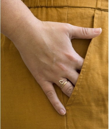 anillo doble oro