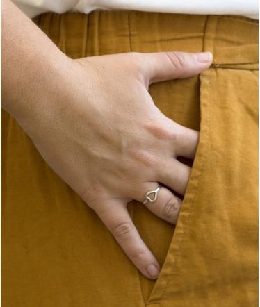 anillo plata con corazon