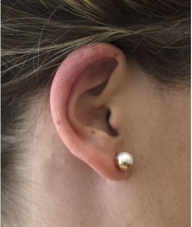 bolas oro amarillo y perlas