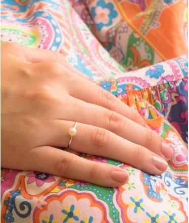 anillo oro blanco 9 kts