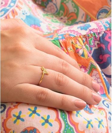 anillo bañado oro