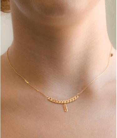 colgante cadena oro