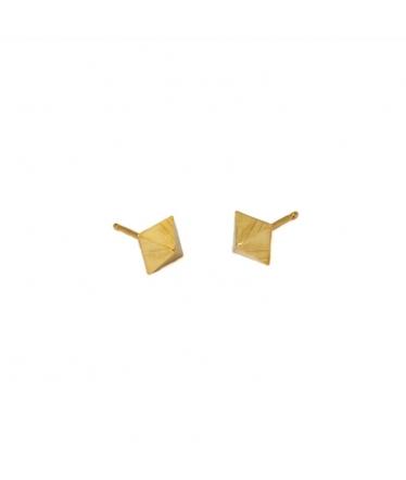 pendientes de pirámide de oro