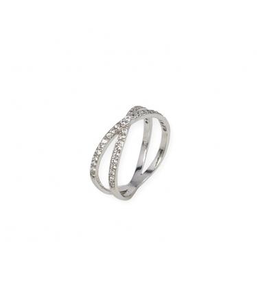 anillo con circonita