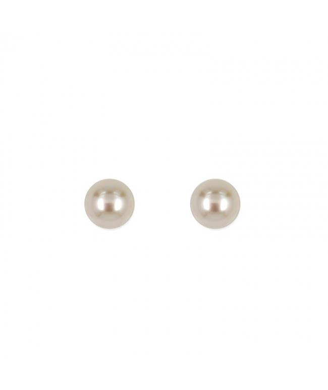 Pendientes de plata jacket perlas (BH146)