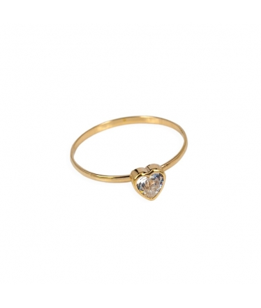 9 carat gold heart ring (BH184)