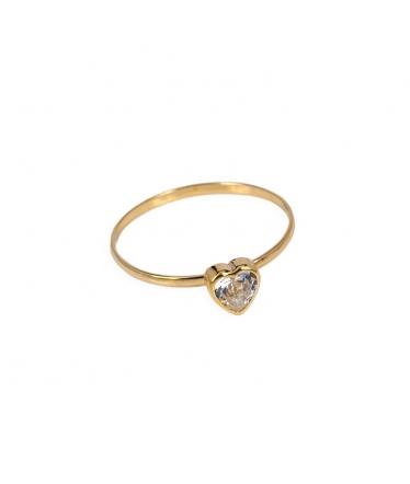 Anillo oro 9 kts. corazón (BH184)