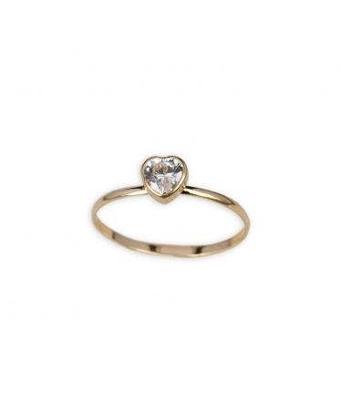 anillo corazón amor oro