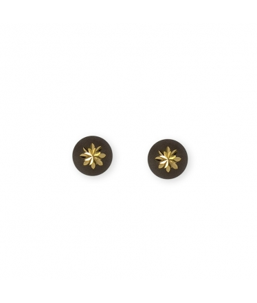 Gold earrings 9 kts 1/2 balls (BH219)
