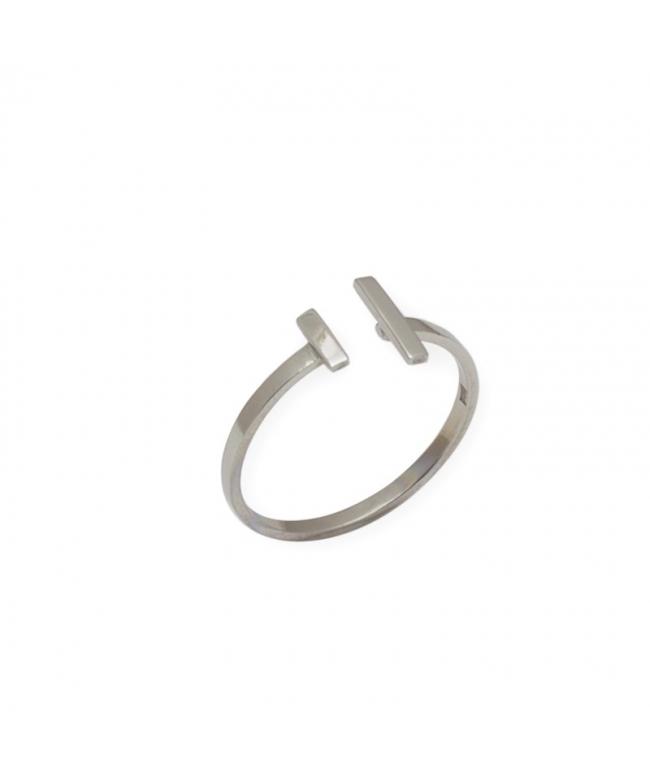Anillo plata circonitas abierto (BH191)