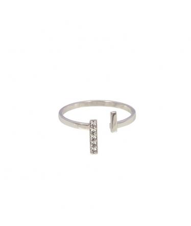 anillo abierto con circonita
