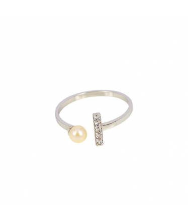 Silver earrings spiral circle (BH197)