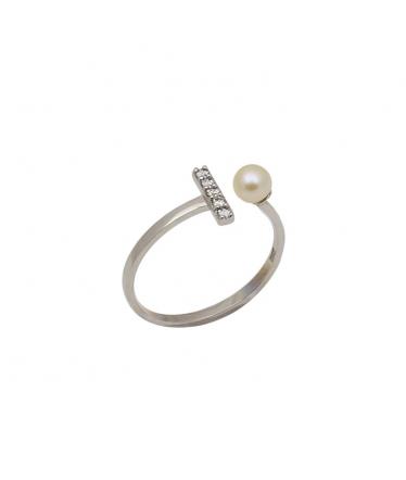 Pendientes plata espiral flor (BH198)