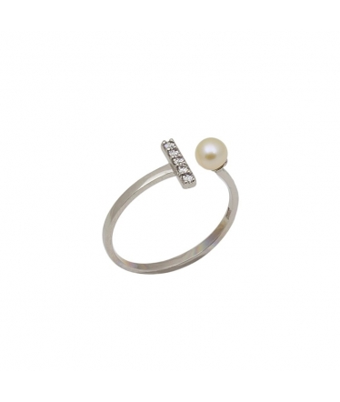 Silver spiral flower earrings (BH198)