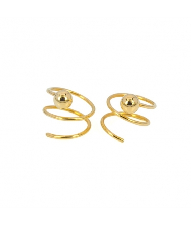 Silver spiral flower earrings (BH199)