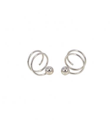 Silver spiral clover earrings (BH201)