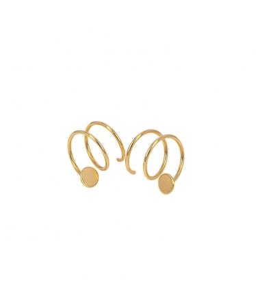 pendientes espiral oro