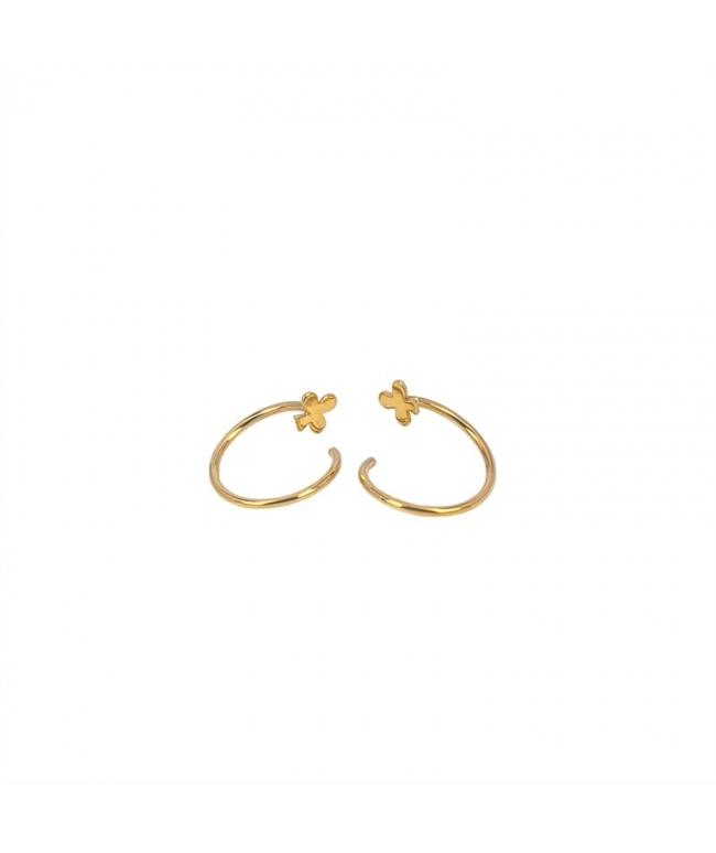 pendiente espiral oro