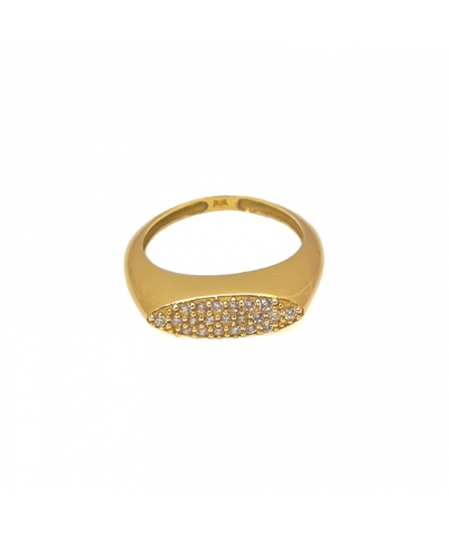 anillo sello circonitas
