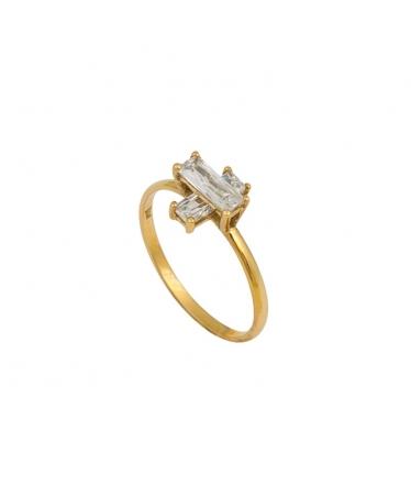 anillo con cruz de circonita