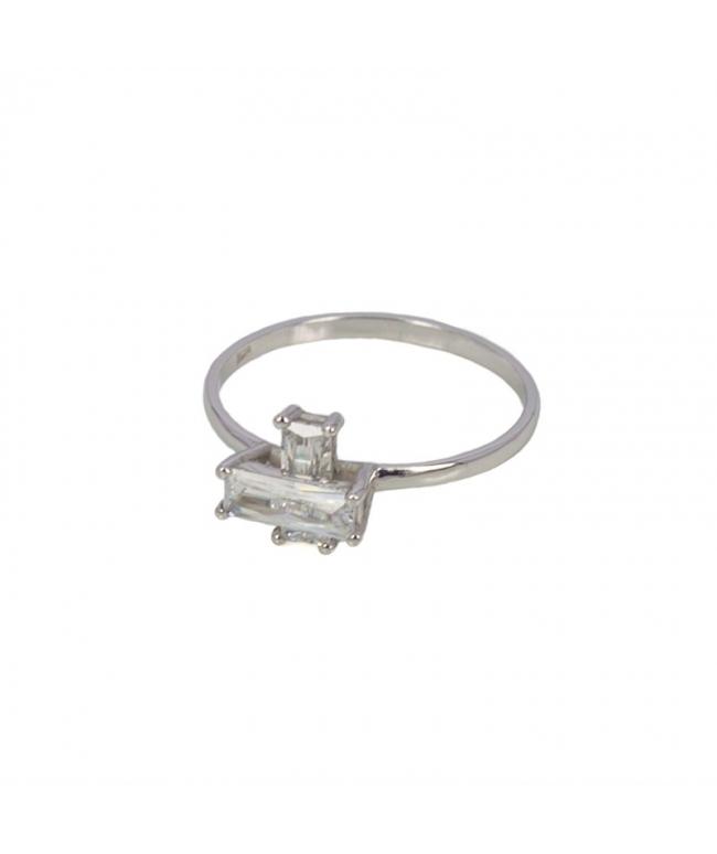 anillo cruz de plata