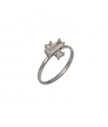 anillo cruz circonita