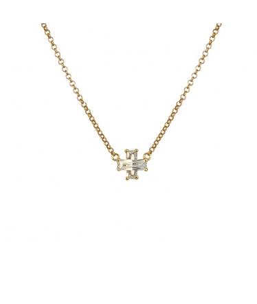 colgante cruz de oro