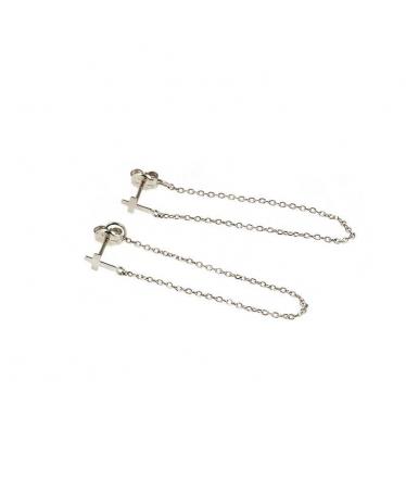 Silver earrings spiral ball (BH195)