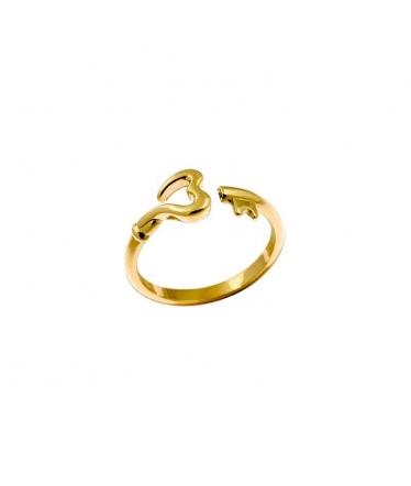 anillo corazón llave