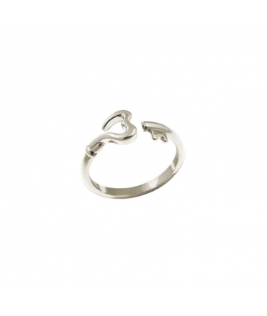 anillo plata llave