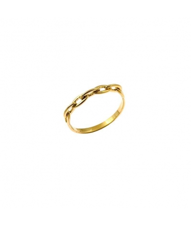 anillo cadena oro