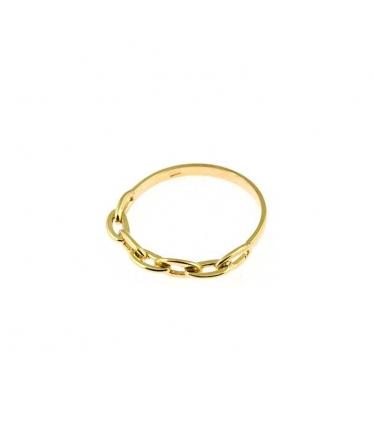 anillo oro con cadena