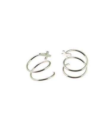 pendientes de espiral en plata
