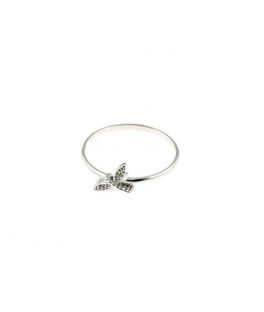 Anillo de plata libélula