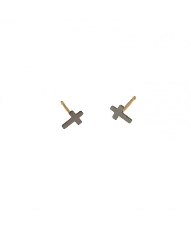 Pendientes oro 18 kts con circonitas. (BH116)