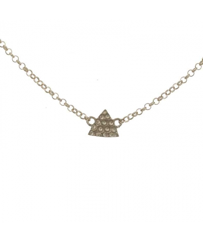 Tobillera plata triangulo