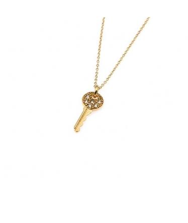 colgante de llave en oro