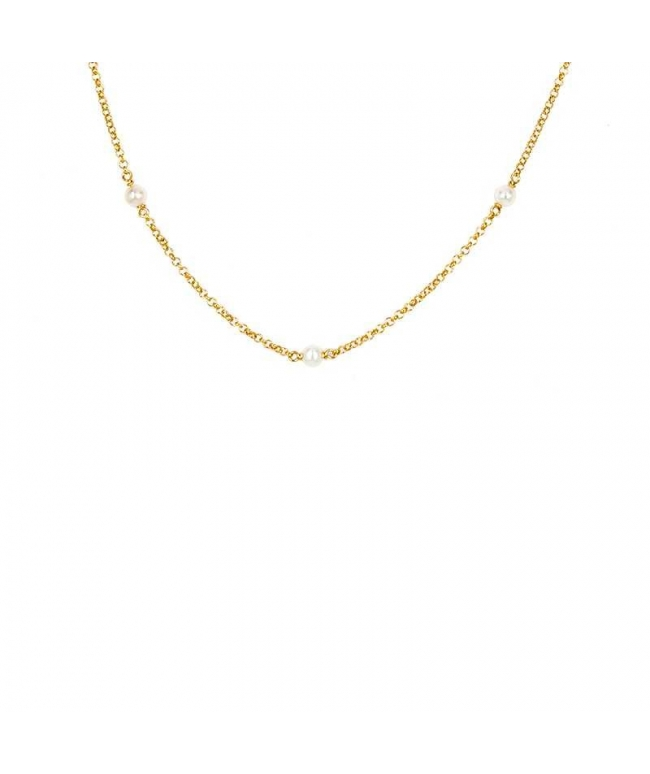 dc07e93aba66 Pulsera con perlas plata cadena