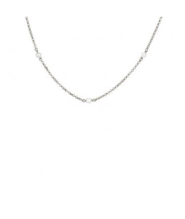 Pulsera con perlas plata