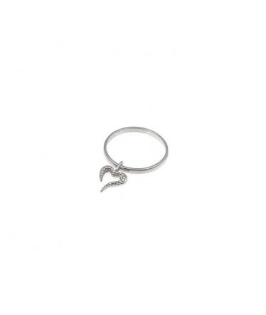 anillo corazón de plata