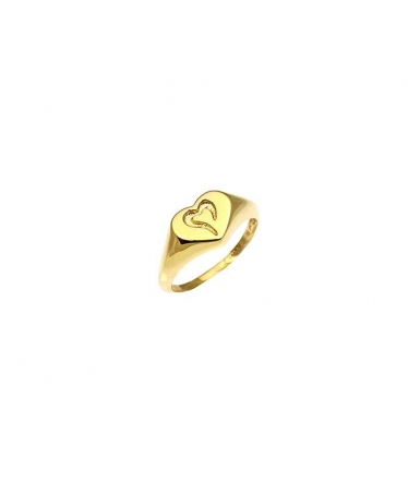 anillo corazón oro