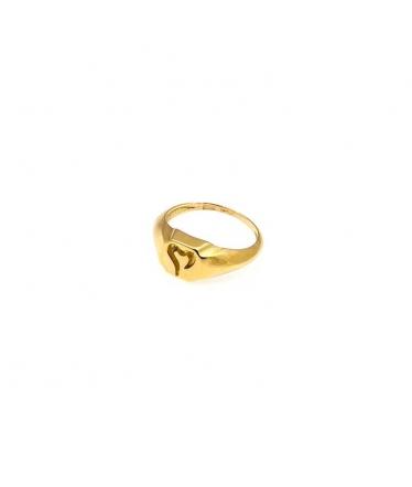 anillo sello oro