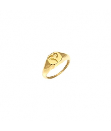 sello oro corazón