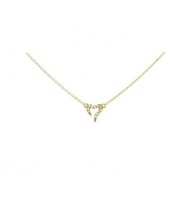 Sterling silver star zircons pendant (BH473)