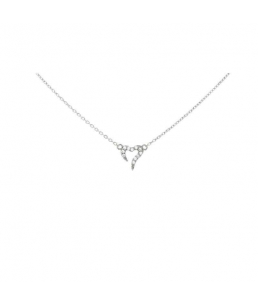 Sterling silver circle zircons pendant (BH476)
