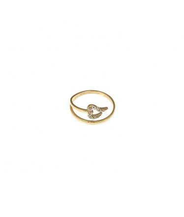 anillo oro corazon