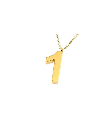 colgante número oro
