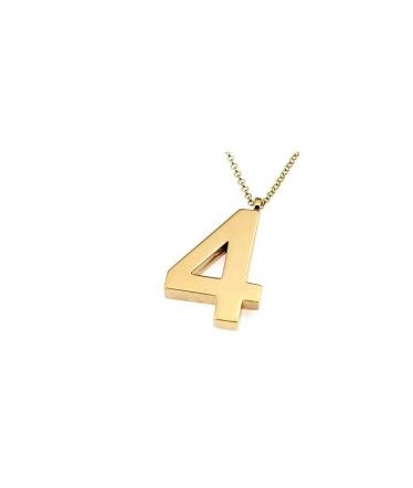 colgante número cuatro en oro