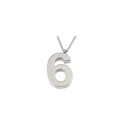 gargantilla número seis en plata