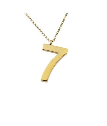 colgante número siete en oro